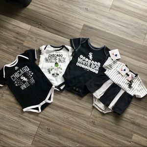 White Sox baby onesie bundle various sizes